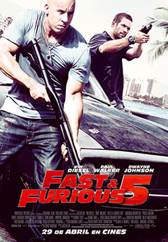 Cartel Fast and Furious 5 (A todo gas 5)
