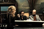 Foto rodaje Dark Shadows con Michelle Pfeiffer y Tim Burton