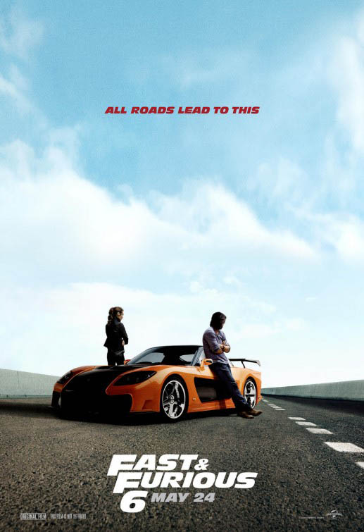 Cartel promocional Fast and Furious 6 (A todo gas 6)