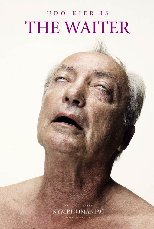 Cartel Udo Kier en Nymphomaniac de The waiter